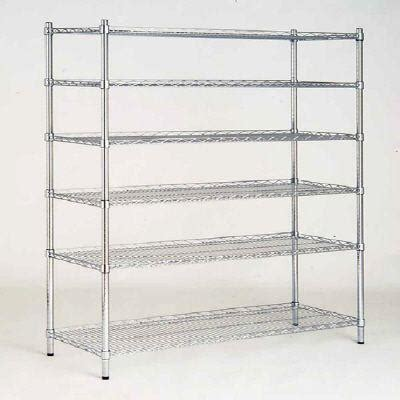 home shelving hdx 48 in w x 72 in h x 18 in d decorative wire chrome