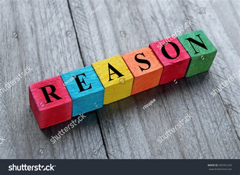 Reason For Word Reason On Colorful Wooden Cubes Stock Photo 260181233