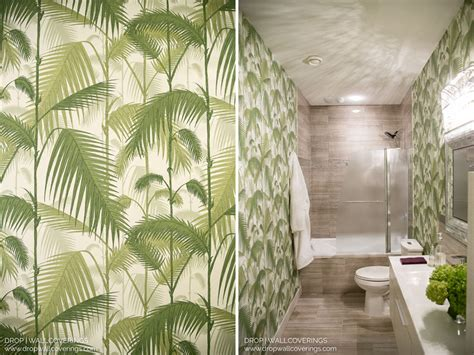 Bathroom Wallpaper Designs by Cole Amp Son Palm Jungle 95 1001 By Drop Wallcoverings
