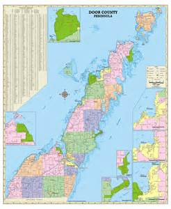 themapstore door county wisconsin wall map