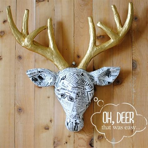 How To Make A Paper Mache Deer - 135 best deer diy images on deer silhouette