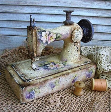 Vintage Decoupage Ideas - sewing shabby d 233 coupage vintage sewing