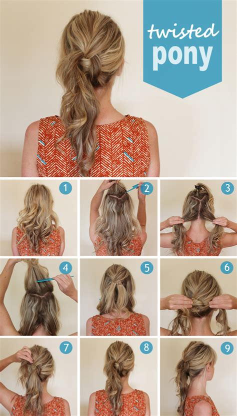hair styles in two ponies twisted pony hairstyle