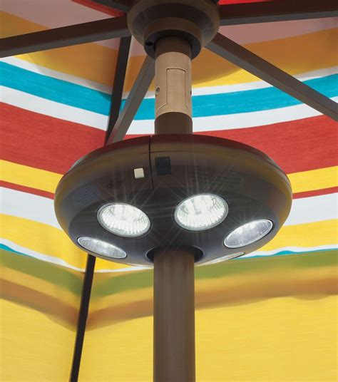 home depot patio umbrella with led lights blue wave 6 light rechargeable led umbrella light the
