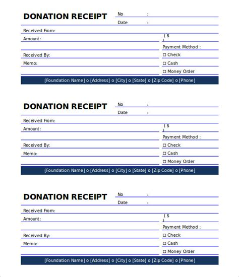 Free Charitable Donation Receipt Template by 18 Payment Receipt Templates Free Sle Exle