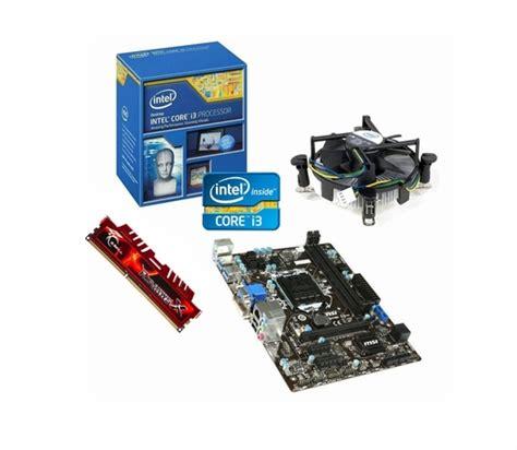 motherboard cpu ram bundle intel i3 4160 msi lga1150 motherboard cpu 8gb ram bundle