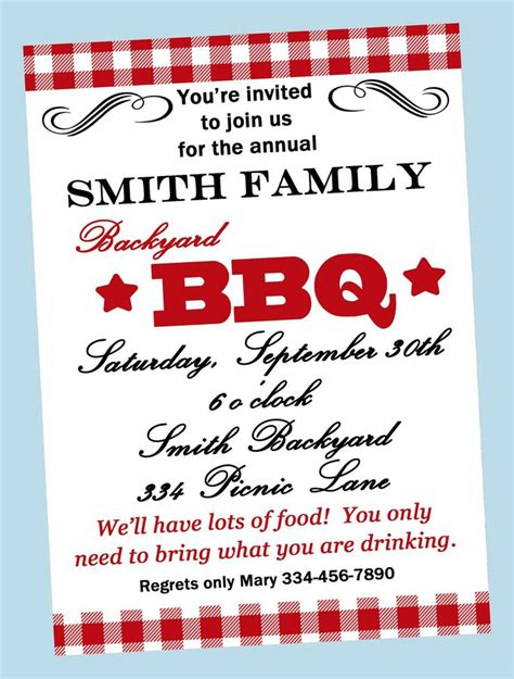 bbq invitation templates bbq invitations wording sles retirement