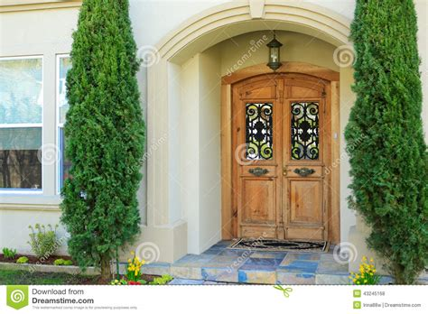 Home Plans With Front Porches by Luxury House Entrance Porch Stock Photo Image 43245168