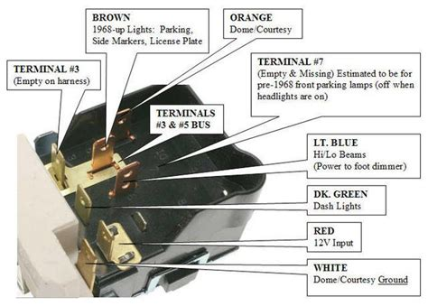 headlight switch wiring chevelle tech
