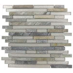 home depot mosaic tile splashback tile tectonic harmony green quartz slate and