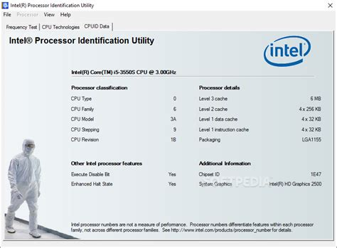 cpu info intel processor identification utility download