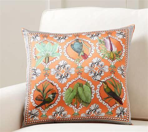 bird scarf print pillow cover pottery barn