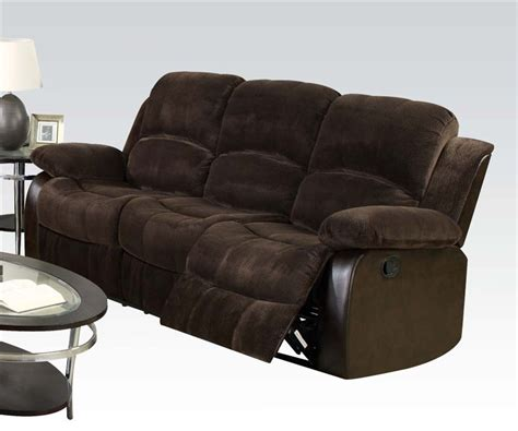 two tone reclining sofa masaccio reclining sofa in two tone brown upholstery by