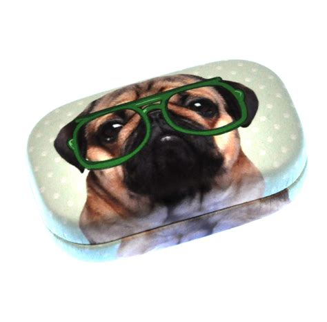 pug in glasses pug in green glasses jewellery contact lens pink cat shop