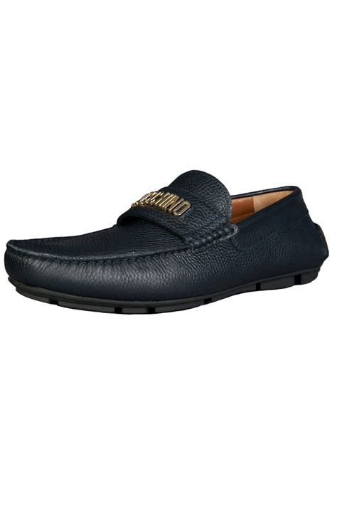 moschino mens loafers moschino loafers shoes 56092 12009003 01 9104 blue mens