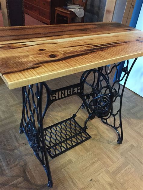 used sewing machine tables end table made from antique singer sewing machine with