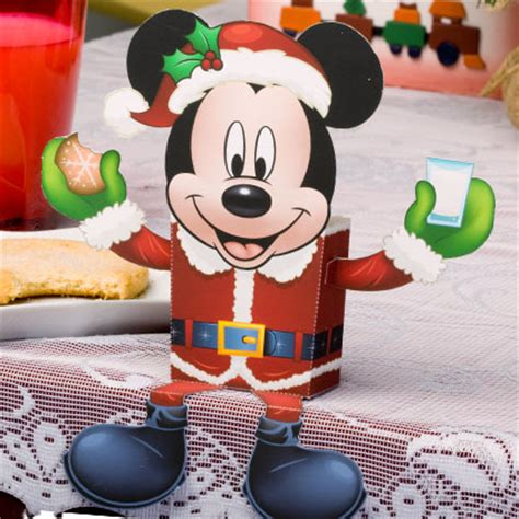 mickey mouse santa candy box disney family
