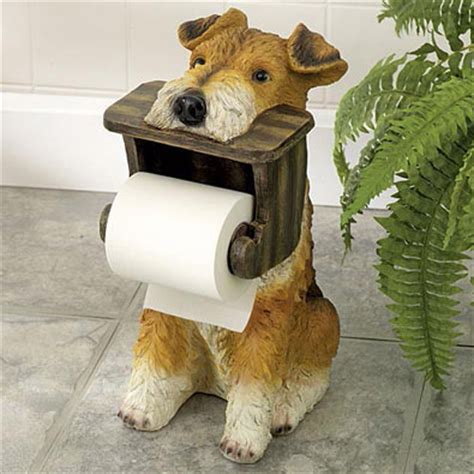 dog toilet paper holder unique gifts terrier toilet paper holder