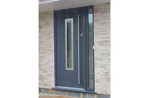 Contemporary Composite Front Door Glazed Front Door Binfield Berkshire