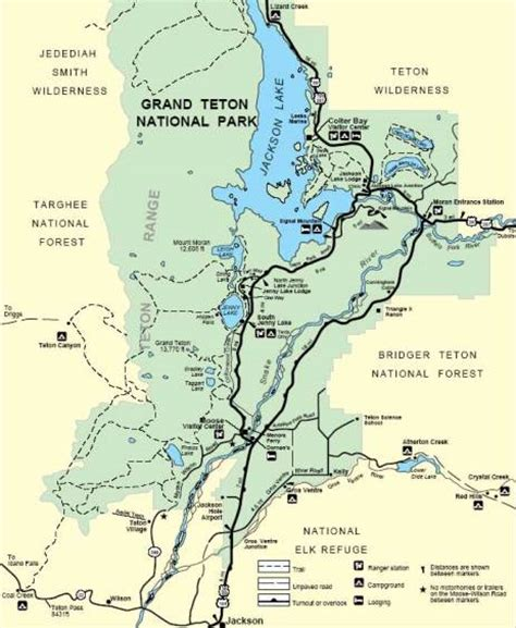grand teton national park map grand teton national park trail map