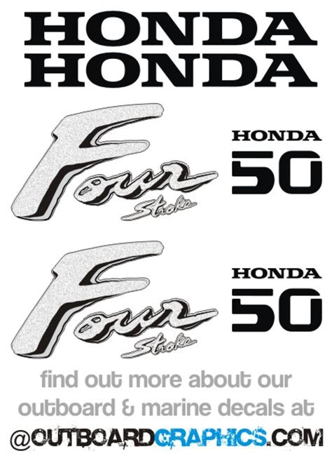Honda Marine Aufkleber by Honda 50hp Four Stroke Outboard Engine Decals Sticker Kit