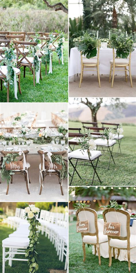 Wedding Ceremony Chair Decorations by Pantone Color Of The Year 2017 Top 50 Greenery Wedding