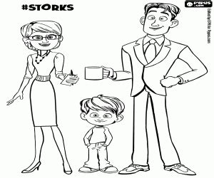 garden an coloring book books the gardner family from storks coloring page printable