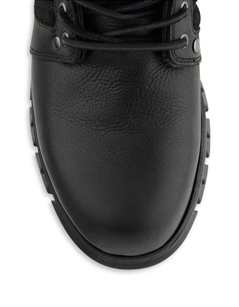 polo ralph diego leather boots in black for lyst