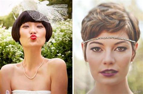 tocados novia pelo corto peinados de novia pelo corto novias con el pelo corto