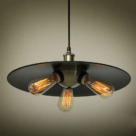 Industrial Edison Mini Metal Pendant Light 3 Lights Industrial Metal Pendant Lights
