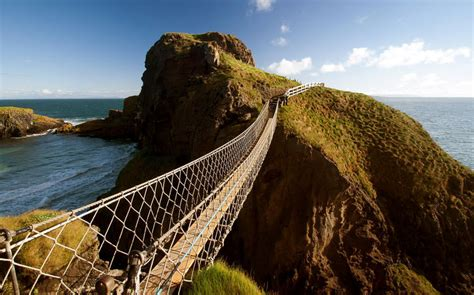 swinging sites ireland carrick a rede a rope bridge on a dramatic coast in