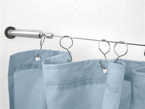cable curtain rod vita futura blog extra long shower rods bridging the gap