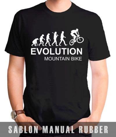 Kaos Evolution 1 kaos sablon evolution mountain bike kaos premium