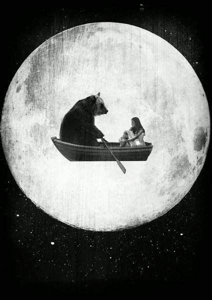Bilder Ideen 5446 by Ein Madchen Und Ein Bar Mit Dem Mond Bilder