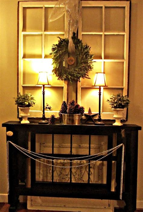Entry Way Table Decor by Christmas Entryway Decorating Ideas Entry Ways Ideas