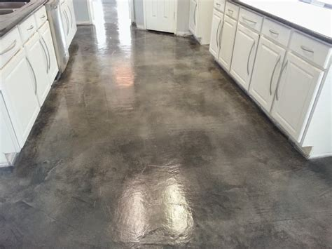 stained concrete flooring, eco stain, sealer and wax for