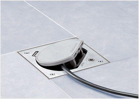 prese elettriche a pavimento torrette a scomparsa simon urmet