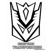 Decepticon Transformers Logo Coloring Pages &gt&gt Disney