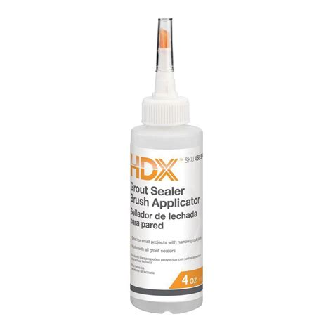 hdx 4 oz grout sealer applicator brush bottle for walls