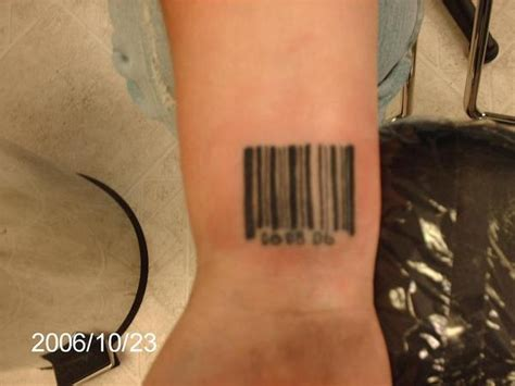 barcode tattoo wrist barcode on wrist for guys tattooshunt