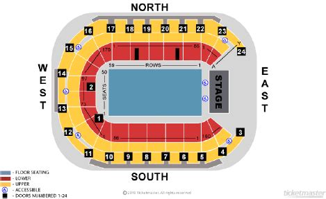 odyssey arena floor plan seating plans