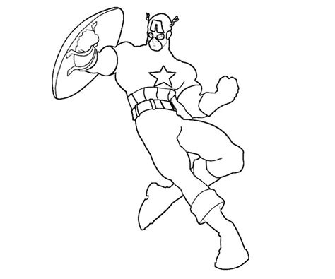 Free Coloring Pages Of Captain America And Thor America Coloring Pages