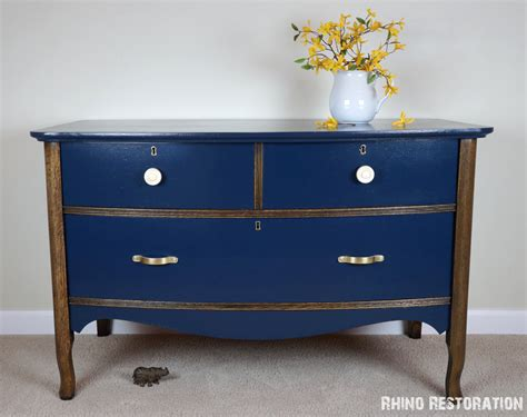 navy blue antique dresser items similar to sold vintage oak low boy dresser