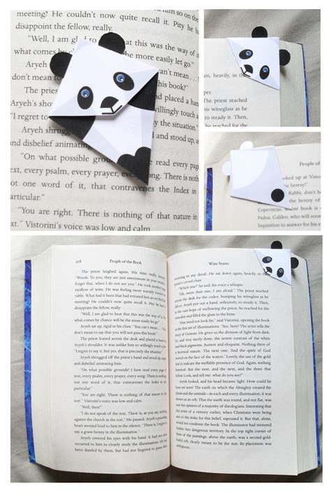 Origami Bookmark Panda - panda corner bookmark printable pdf file for 2 my