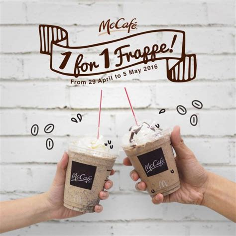Mcdonalds Deal Calendar Mccafe Celebrates Coffee With 1 For 1 Frappe Offer For A