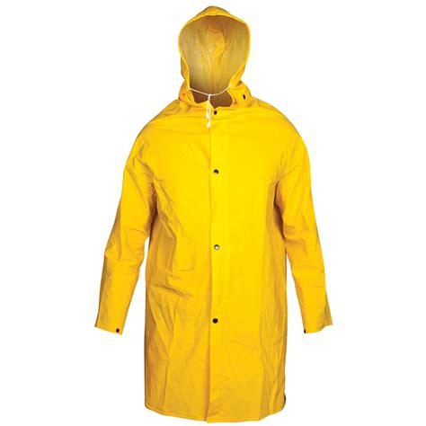 yellow raincoat raincoat unisafe pvc 3 4 length xlge yellow iw5010 ye xos