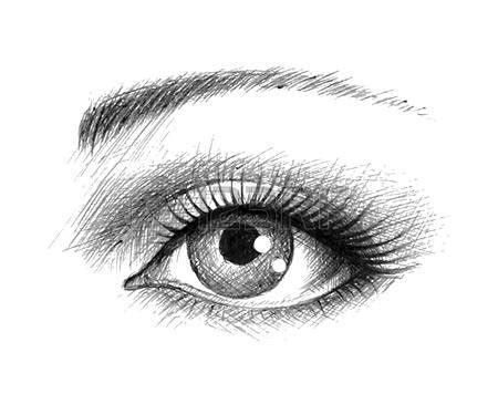 facile it banche dessin noir et blanc l oeil humain illustration
