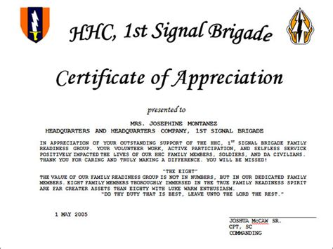 appreciation letter to guest of honor certificate of appreciation template 13 in