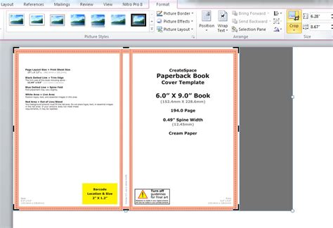 templates for word book how to make a full print book cover in microsoft word for