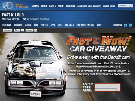 Today Car Giveaway - fast n wow car giveaway